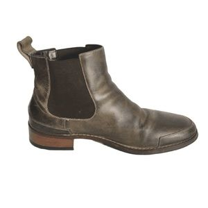 Cole Haan Nike Air Brown Leather Ankle Booties 10